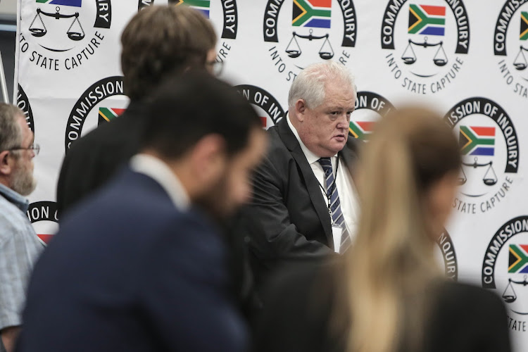 Angelo Agrizzi, the former COO of Bosasa, prepares to give testimony on January 16 2018 at the state capture commission in Parktown, Johannesburg.