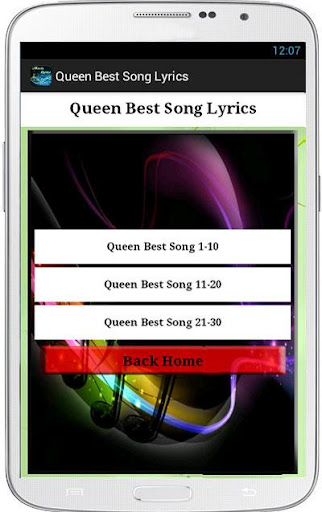 Lyrics from Queen Songs