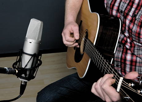 Single mic guitar technique