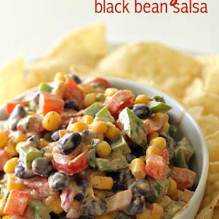Creamy Black Bean Salsa.