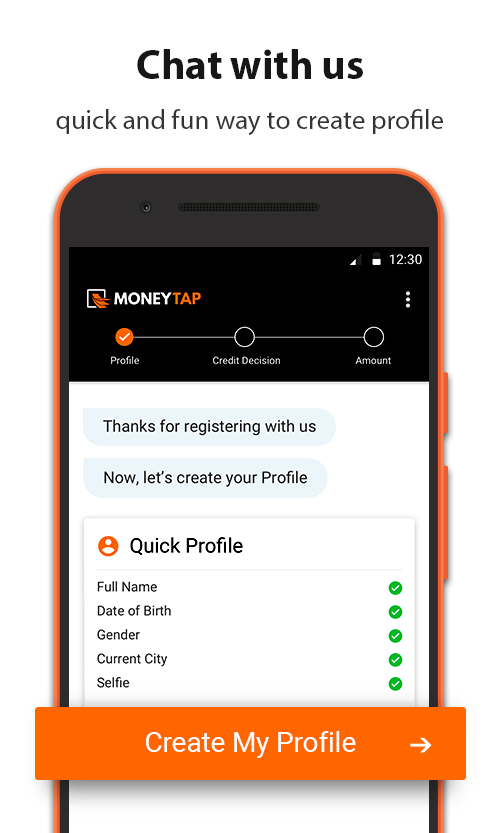 MoneyTap, your credit line app- screenshot