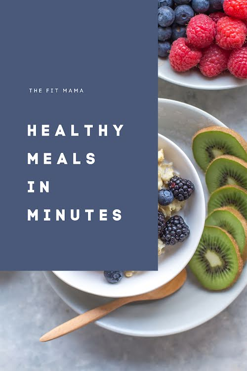 Healthy Meals in Minutes - Pinterest Pin Template