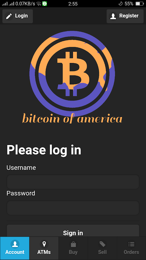 Bitcoin Of America- screenshot