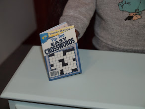 Photo: Crossword puzzle book.