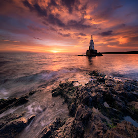 Sunrise at Lighthouse by Mihail Marzyanov - Landscapes Sunsets & Sunrises