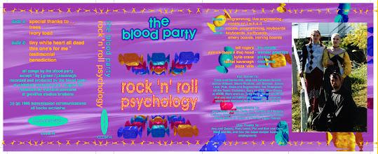 Photo: Master Artwork: CCOM14, Rock n Roll Psychology, released October 1995. Design by the band.