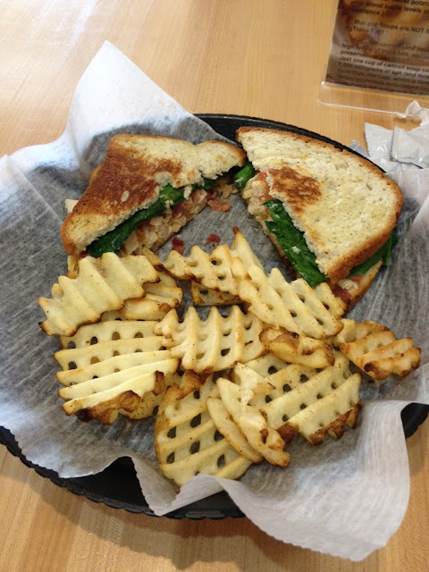 Gobble Gobble Turkey panini with waffle fries