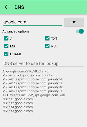 DNS tools screenshots 2