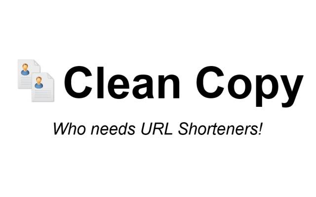 Clean Copy