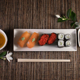 Sushi set by Picme Lens - Food & Drink Plated Food