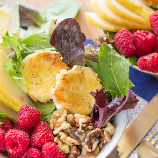 Fried Goat Cheese and Raspberry Salad