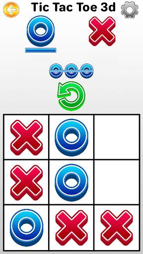 Tic Tac Toe 2 player games, tip toe 3d tic tac toe android2mod screenshots 1
