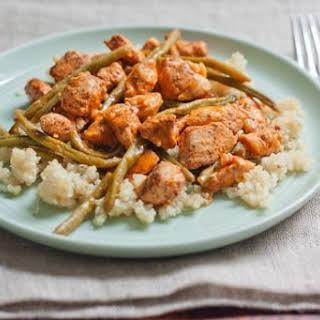Healthy Orange Chicken with Green Beans.
