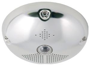 Photo: Mobotix Q24 IP camera, polished stainless steel anti-vandal set