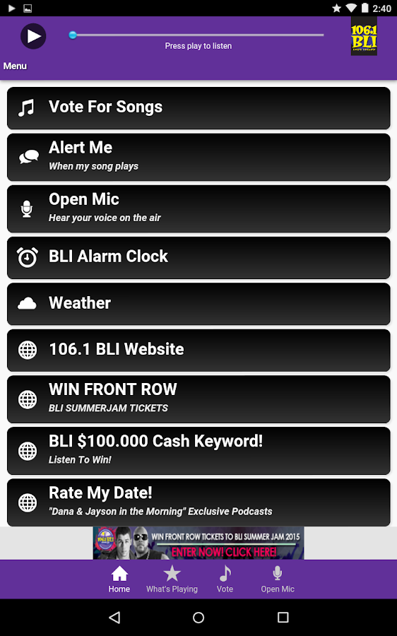 106.1 WBLI- screenshot