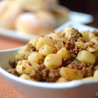Potatoes and Chorizo.