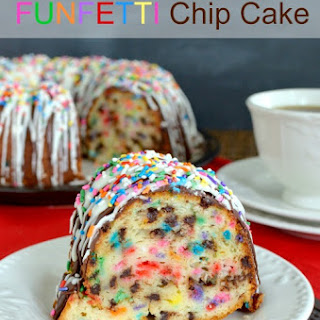 White Chocolate Funfetti Chip Cake