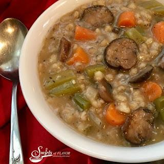 Slow Cooker Mushroom Barley Soup.