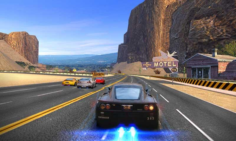 Driving in speed car- screenshot