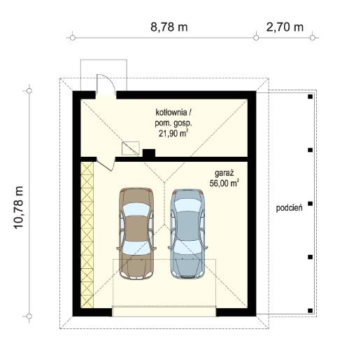 Rezydencja parkowa 4 - Garaż wolnostojący