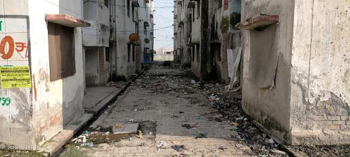 काशीराम कॉलोनी में स्वच्छ भारत मिशन को जिम्मेदारों द्वारा दिखाया जा रहा है ठेंगा