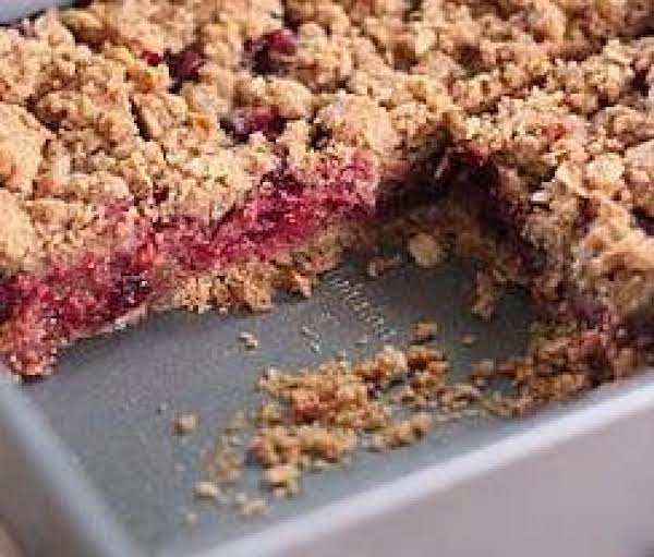 Cranberry Crumble Bars Made Healthy
