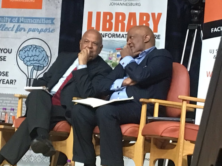 Pravin Gordhan and Ncebisi Jonas.File photo.
