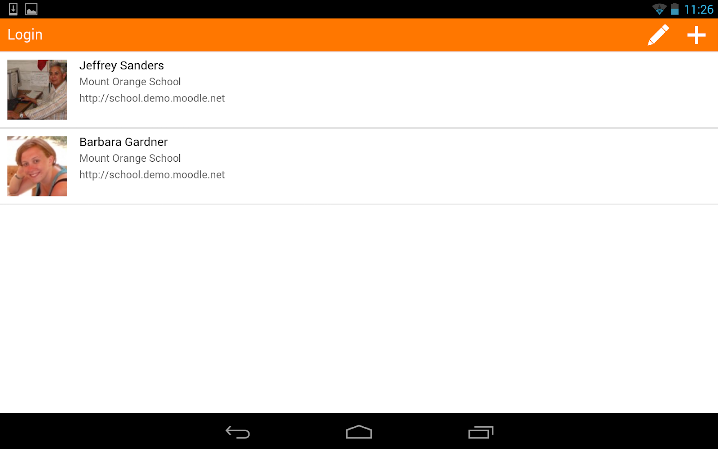 Moodle Mobile: captura de pantalla