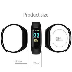 Bratara fitness smartband M3 plus, Bluetooth, OLED, IP67, ritm cardiac, notificari apeluri