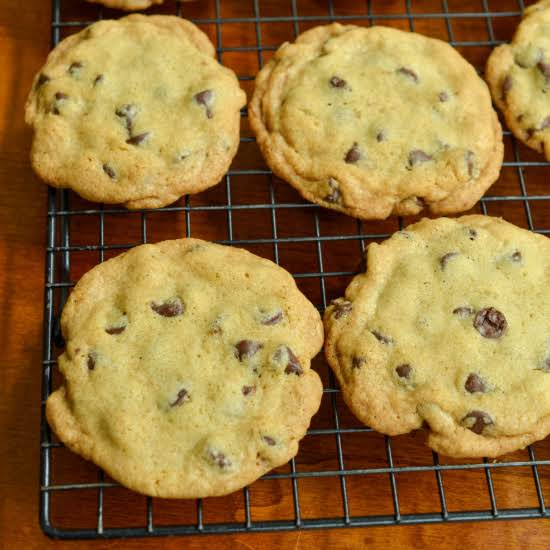 Classic Thin And Crispy Chocolate Chip Cookies Made Easy With Nine Ingredients  And Mixed Up And Ready For The Oven In About Ten Minutes.