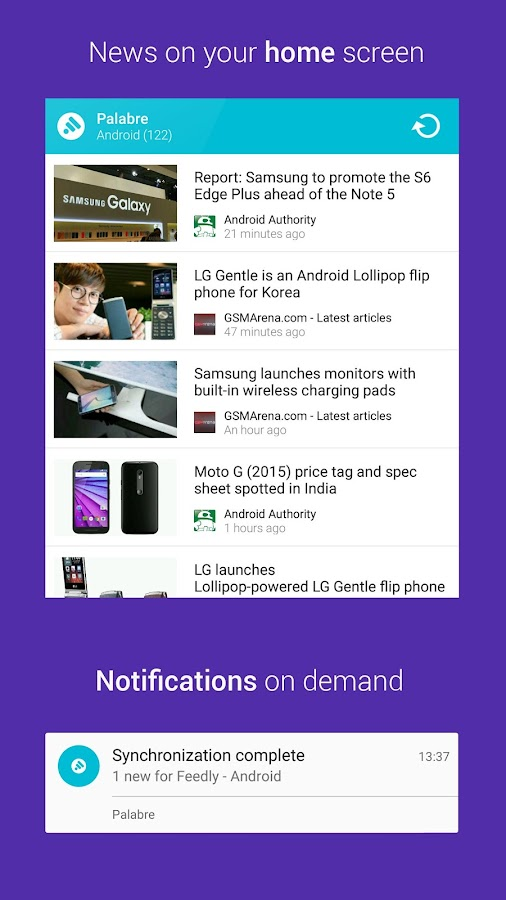 Palabre Feedly RSS Reader News- screenshot