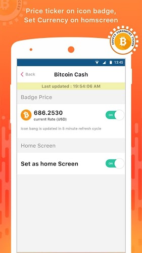 Crypto Currency Ticker - Live Bitcoin Rate & News APK