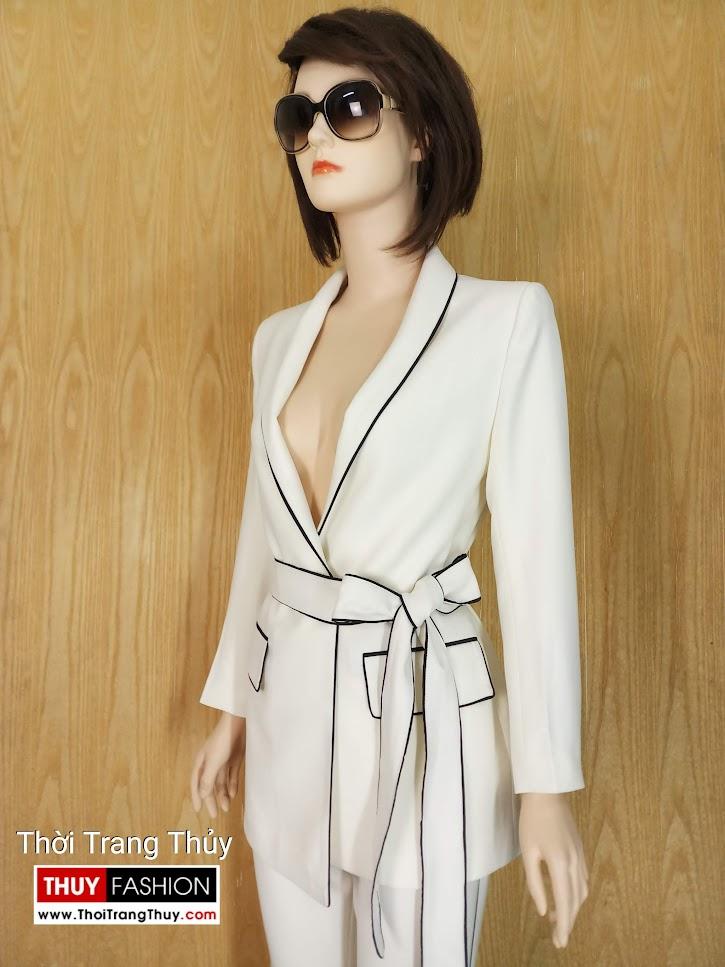 Áo blazer nữ thắt đai eo V662 Thời Trang Thủy