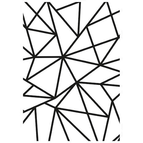 Kaisercraft Embossing Folder 4X6 - Geo Lines