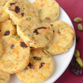 Pistachio Cookies With Cheddar And Dried Cherries (You Have To Try These)