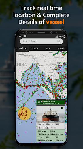 Marine finder: Vessel navigation & ship tracker screenshot 1