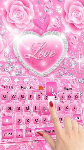 Pink Love Princes Keyboard Theme 10001002 screenshots 3