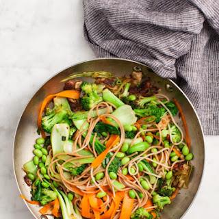 Sesame Broccoli and Shiitake Stir Fry.