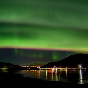 Sandnesdalen by Ricky Friskilæ - Landscapes Weather ( sandnes, aurora borealis, finnmark, nordlys, norway )
