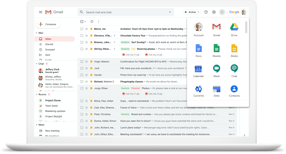 Google Workspace features