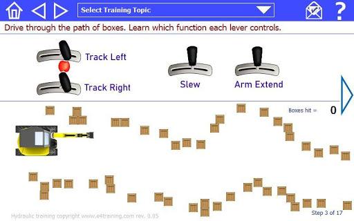 Mobile system hydraulic excavator training rev 1-00 screenshots 6