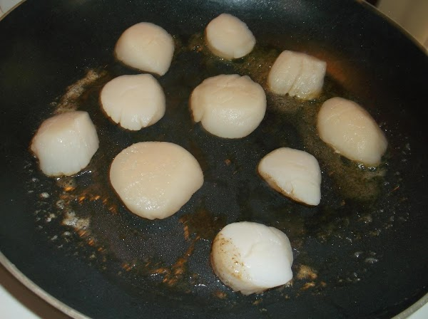 Place 1/3 to 1/2 of the scallops in hot skillet (sear in 2 or...