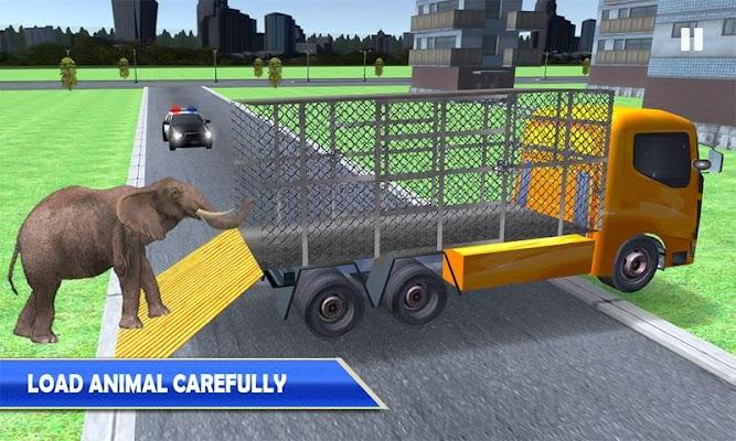 Wild Animals Police Truck Game - screenshot