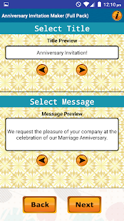 Anniversary invitation cards apps on google play screenshot image stopboris Image collections