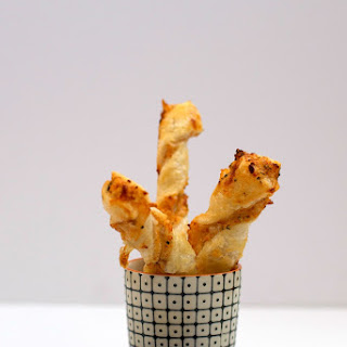 Cheesy Puff Pastry Twists.