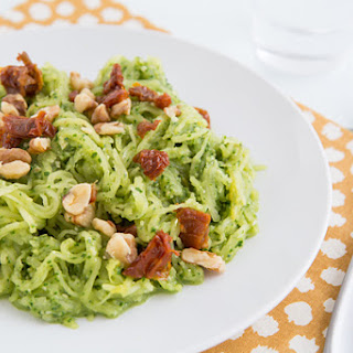 Spaghetti Squash with Garlicky Kale Pesto and Sun-Dried Tomatoes Recipe