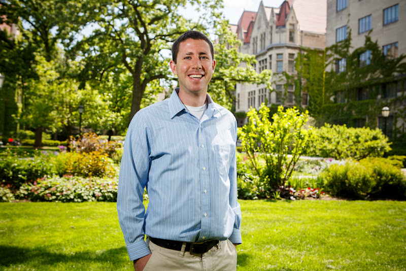 Photo: Patrick Barry, JD student, recipient of a 2012 Wayne C. Booth Graduate Student Prize for Excellence in Teaching. Read his interview: http://bit.ly/K6leGC (Photo by Jason Smith)