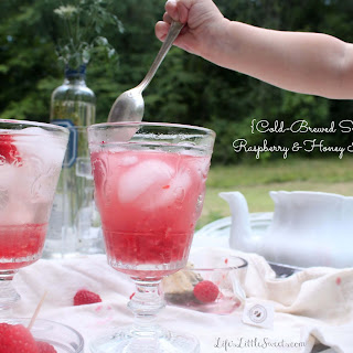 Cold-Brewed Smashed Raspberry Honey Iced Tea