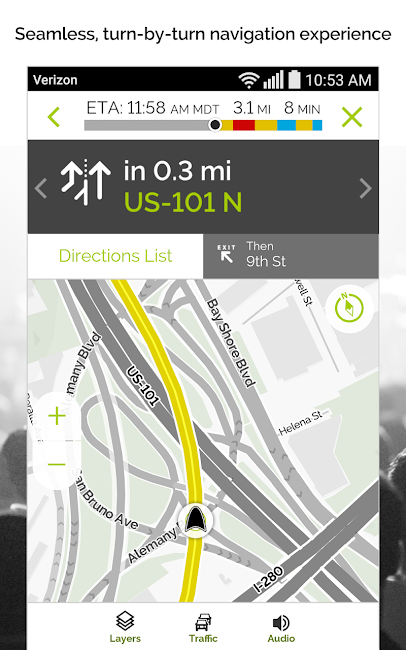 #7. MapQuest GPS Navigation & Maps (Android)