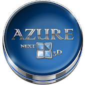 Next Launcher Theme Azure 3D